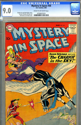 Mystery in Space #58   CGC graded 9.0 - SOLD