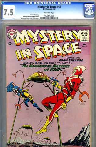 Mystery in Space #65   CGC graded 7.5 SOLD!