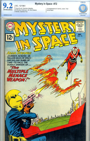 Mystery in Space #72   CBCS graded 9.2 - SOLD!