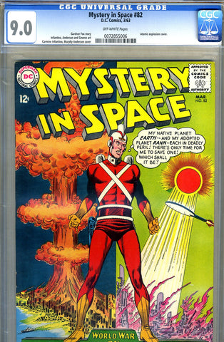 Mystery in Space #82   CGC graded 9.0 - SOLD