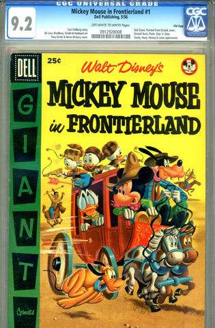 Mickey Mouse in Frontierland #1 CGC graded 9.2 Giant  SOLD!