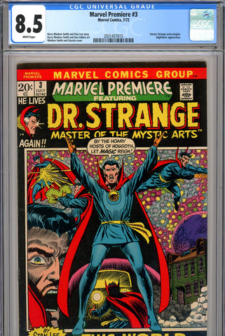 Marvel Premiere #03 CGC graded 8.5 - Dr. Strange begins SOLD!