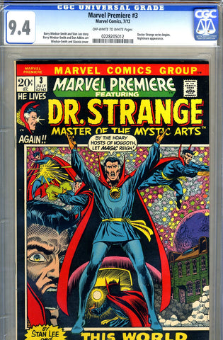 Marvel Premiere #03   CGC graded 9.4 SOLD!