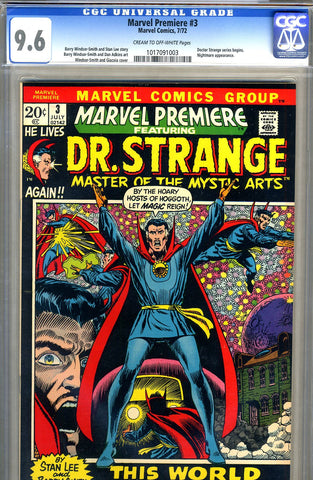 Marvel Premiere #3   CGC graded 9.6 - SOLD!