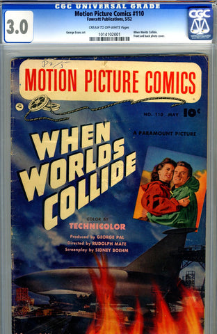 Motion Picture Comics #110   CGC graded 3.0 - photo-c - SOLD!