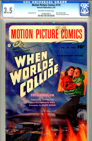 Motion Picture Comics #110 CGC graded 3.5 photo cover