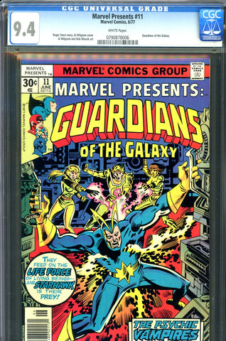 Marvel Presents #11 CGC graded 9.4 Guardians of Galaxy - SOLD!
