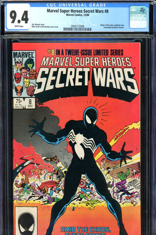 Marvel Super Heroes Secret Wars #8 CGC graded 9.4 SOLD!