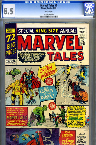 Marvel Tales #02   CGC graded 8.5 - SOLD!