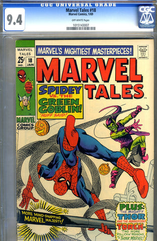 Marvel Tales #18   CGC graded 9.4 - SOLD