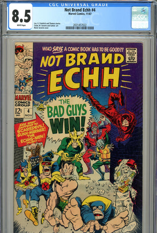Not Brand Echh #04 CGC graded 8.5 white pages