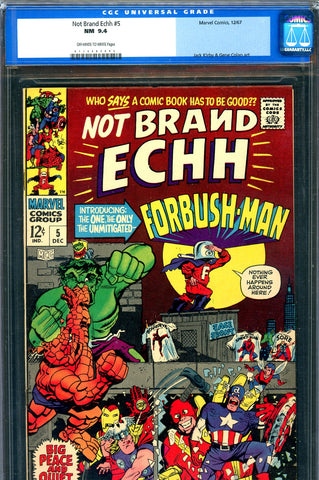 Not Brand Echh #05 CGC graded 9.4 origin Forbush Man SOLD!