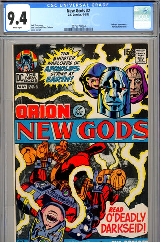 New Gods #02 CGC graded 9.4 Darkseid appearance - SOLD!