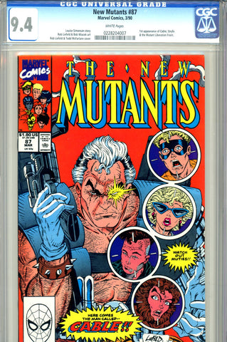 New Mutants #087   CGC graded 9.4  first Cable
