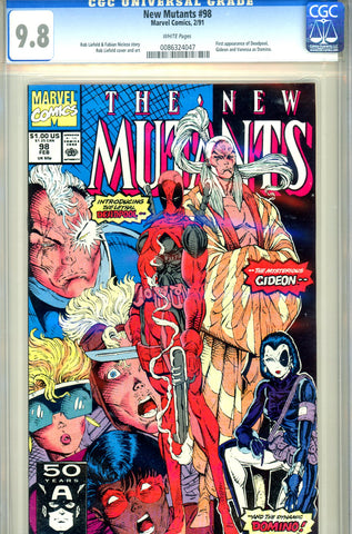 New Mutants #098 CGC graded 9.8 first Deadpool SOLD!