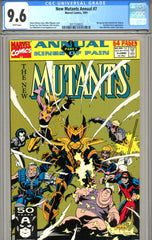 New Mutants Annual #07 CGC graded 9.6 last issue