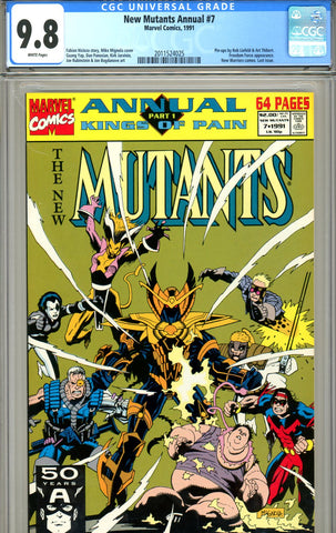 New Mutants Annual #07 CGC graded 9.8 HIGHEST GRADED