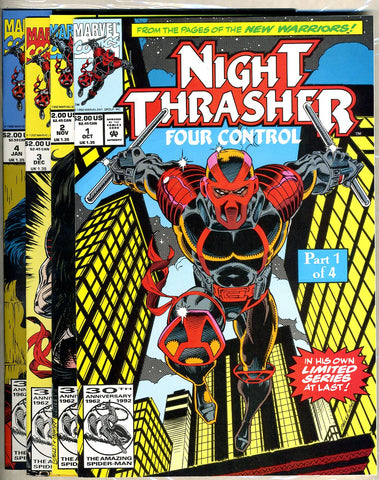 Night Thrasher: Four Control  all NEAR MINT- complete set
