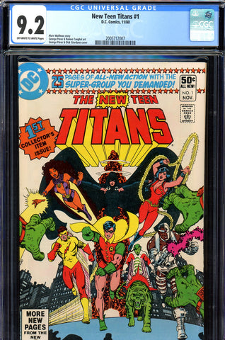 New Teen Titans #01 CGC graded 9.2