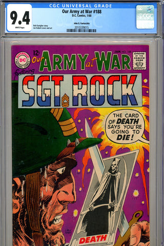 Our Army At War #188 CGC graded 9.4  Fantucchio pedigree - SOLD!