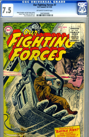 Our Fighting Forces #07   CGC graded 7.5 - SOLD