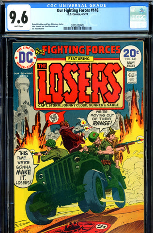 Our Fighting Forces #148 CGC graded 9.6  HIGHEST GRADED