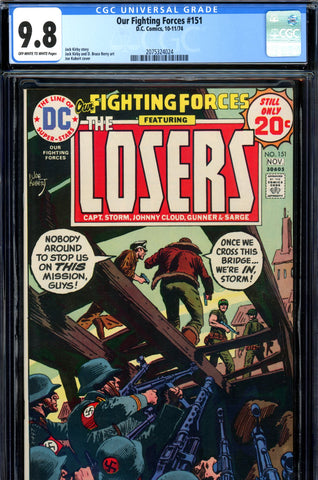 Our Fighting Forces #151 CGC graded 9.8 HG SOLD!