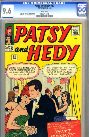 Patsy and Hedy #93   CGC graded 9.6 - HIGHEST GRADED - SOLD!