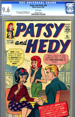 Patsy and Hedy #94   CGC graded 9.6 - HIGHEST GRADED - SOLD!