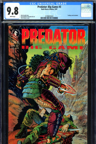 Predator Big Game #3 CGC graded 9.8 - HIGHEST GRADED SOLD!