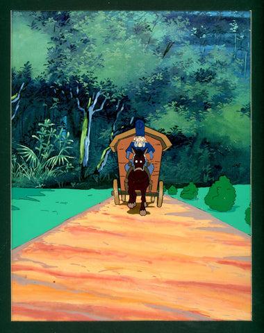 "Original production cel -""Pinocchio""- by Golden Films 129 MATTED"