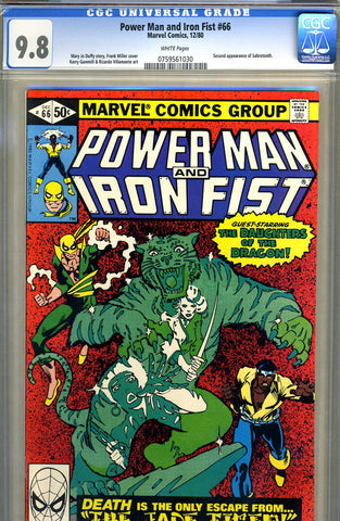 Power Man and Iron Fist #66   CGC graded 9.8 - SOLD