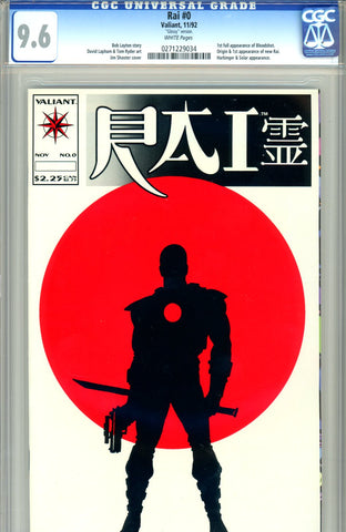 "Rai #0 CGC graded 9.6 ""glossy"" first Bloodshot - first new Rai"