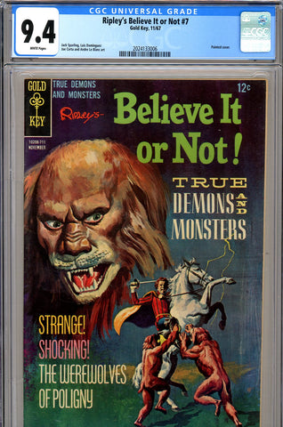 Ripley's Believe It or Not #07 CGC graded 9.4 HIGHEST GRADED SOLD!