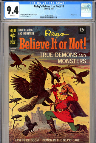 Ripley's Believe It or Not #10 CGC graded 9.4 HIGHEST GRADED SOLD!