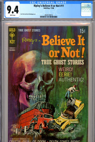 Ripley's Believe It or Not #11 CGC graded 9.4 white pages SOLD!