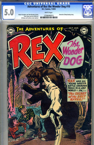 Adventures of Rex, the Wonder Dog #10   CGC graded 5.0 - SOLD!