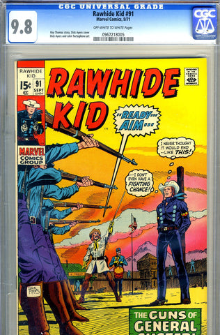 Rawhide Kid #91   CGC graded 9.8 - SINGLE HIGHEST GRADED - SOLD!