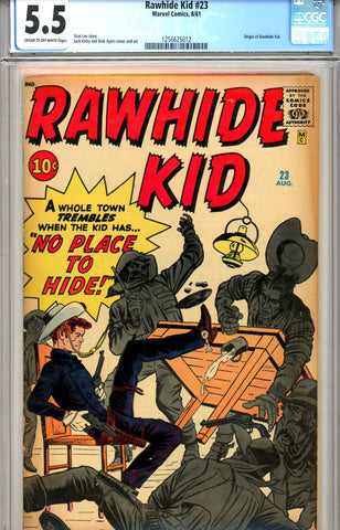 Rawhide Kid #23 CGC graded 5.5 origin of Rawhide Kid SOLD!
