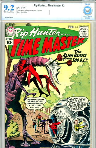 Rip Hunter, Time Master #02  CBCS  graded 9.2 SOLD!