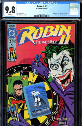 Robin II #2 CGC graded 9.8 - HIGHEST GRADED  dartboard cover