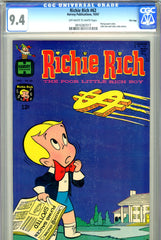 Richie Rich #62 CGC graded 9.4 - scarce in grade