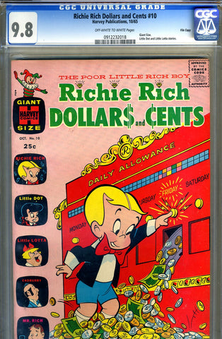 Richie Rich Dollars and Cents #10   CGC graded 9.8 - SINGLE HIGHEST GRADED - SOLD!
