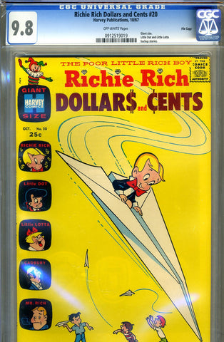 Richie Rich Dollars and Cents #20   CGC graded 9.8 - HIGHEST GRADED - SOLD!