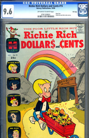 Richie Rich Dollars and Cents #15   CGC graded 9.6 - Giant - 1966 - SOLD