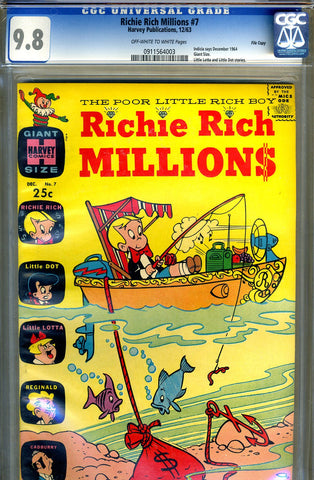Richie Rich Millions #07   CGC graded 9.8 - HIGHEST GRADED - SOLD!