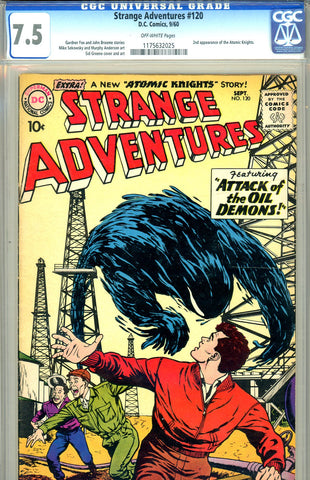 Strange Adventures #120   CGC graded 7.5  second Atomic Knights
