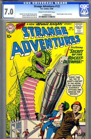 Strange Adventures #123   CGC graded 7.0 third Knights SOLD!
