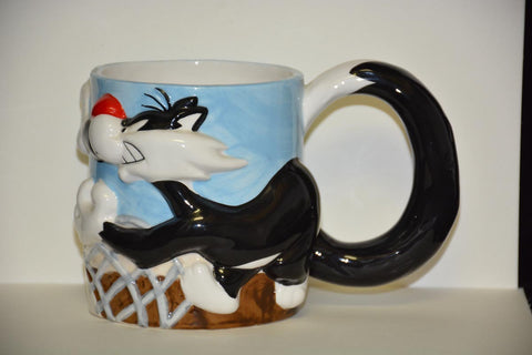 MUG Hand-Painted 3D - Sylvester and Tweety Bird
