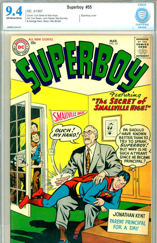 Superboy #055  CBCS  graded 9.4  SINGLE HIGHEST GRADED